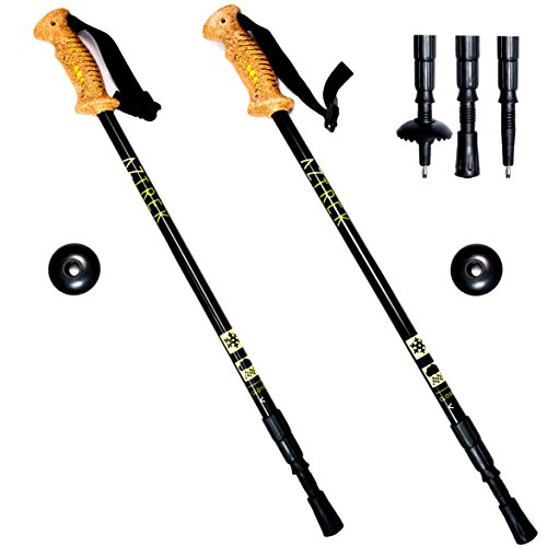 Aztrek Comfortable Pair of Trekking Poles Telescopic | Now Includes Extra Feet...