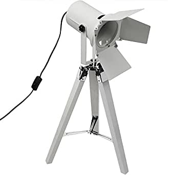 grundig stativlampe mit scheinwerfer e27 h65cm stehlampe dreibeinlampe tripod tripodlampe. Black Bedroom Furniture Sets. Home Design Ideas