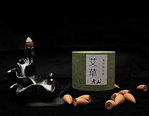 äucherstäbchen Holzaromatherapie Kegel, Backflow traditionellen Weihrauch, Natürlicher Duft ohne chemische oder schädliche Zusatz. 50 Stück,TraditionalChinesemedicine ()