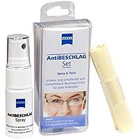 ZEISS AntiBESCHLAG Set (Spray 15ml + Tuch), effektiver Schutz vor beschlagenden Brillengläsern