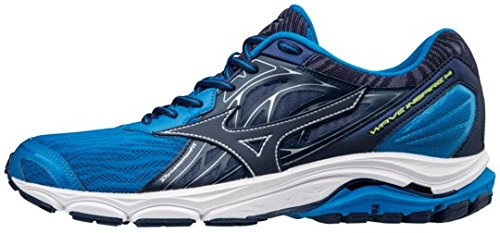 Mizuno Wave Inspire 14, Scarpe da Running Uomo, Blu (Directoire Blue/Bluedepths/Safety Yellow), 42.5 EU