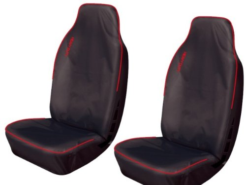 RED PIPING FRONT PAIR VAN SEAT COVERS 1+1 04 on Volkswagen Caddy