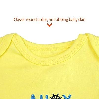 ZEVONDA Body Bebés Niños y Niñas - Pijamas de Recién Nacido Manga Corta/Manga Larga/Mameluco Bodies de 100% Algodón para 0-18 Meses (3/5 Pack)