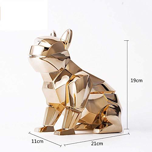 QNMM Europäischen Klassischen Stil Harz Hund Tissue Box Für Badezimmer Vanity Countertops, Schlafzimmer Kommoden, Nachttische, Home Office,Gold,Decoration