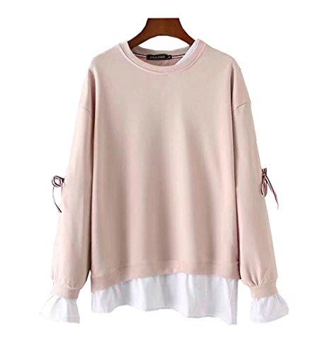 COCO clothing Felpa con Cappuccio Donna Elegante Autunno Pullover Sweatshirt Casual Top Rosa