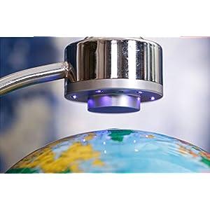 E-Plaza 8-Pulgada Innovador Retro Magnética Levitación Flotante Globo para Casa Oficina Büro Decoración (Azul)