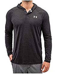 Under Armour UA TECH POPOVER HENLEY - Camiseta de manga larga para Hombre, color Negro, talla M