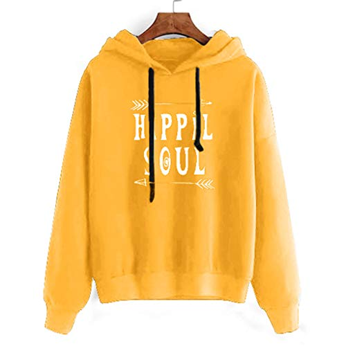 ◆Elecenty◆ Pulli Damen Frauen, Teenager Mädchen Bauchfrei Kapuzenpullover Gedruckt Langarm Kurz Hoodie Sweatshirt Crop Pullover Tops Langarmshirt