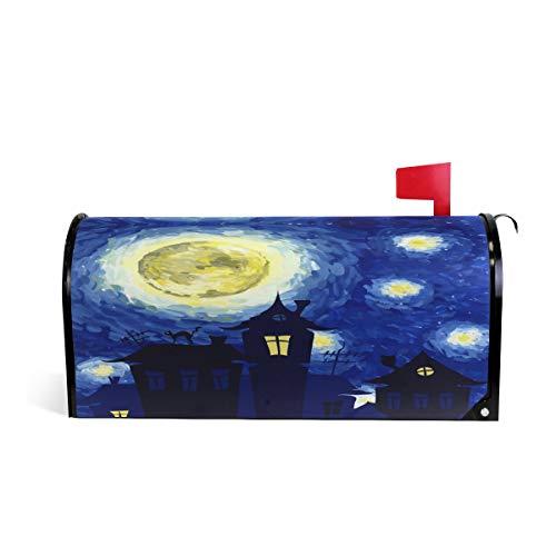Van Gogh Halloween Sternennacht Welcome-Briefkasten-Abdeckung Wraps, Standard-Größe Makover Mailwrap Garten Home Decor