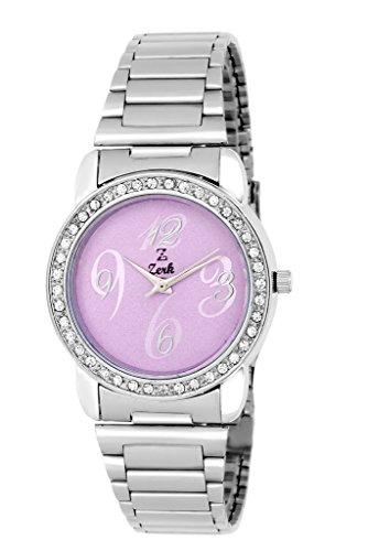 Zerk Analog Purple Dial Round Casual Women\'s Watch - Zrk-W124