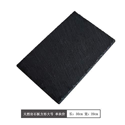 YUWANW Rock Cd-Fach Kreative Heimat Minimalistisches Rechtwinkeliges Tablett Von Sushi Dish Zeigt Die Taumelscheibe Grillplatte, Rechteckig Fels Intraday No. 30 * 20Cm -