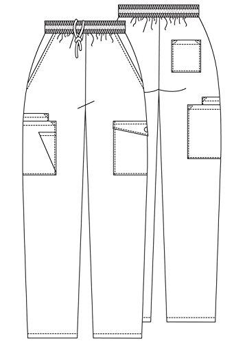 Adar Uniforms Medizinische Schrubb-hosen - Damen-Krankenhaus-Uniformhose 506 Color RYL | Talla: S - 3