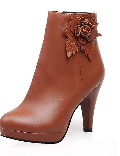 ShangYi Mode Frauen Schuhe Damenschuhe Ferse Plateau Halbstiefel Kleid mehr Farben verfügbar Beige