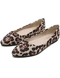 LITHAPP Bombas Planas Para Mujer Damas Mocasines Con Estampado De Leopardo Zapatos Casuales Zapatos Perezosos