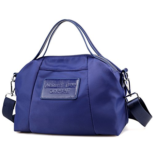 Ladies singola borsa a tracolla,borsa di tela,portatile/messenger bag-nero Blu