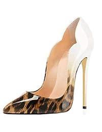 LIANGXIE Tacones Altos Mujer Mujeres Purps Sexy Zapatos Mujer Tacon Delgado  Alto TALÓN Sexy GRADIENTE Mujer 886b19642792
