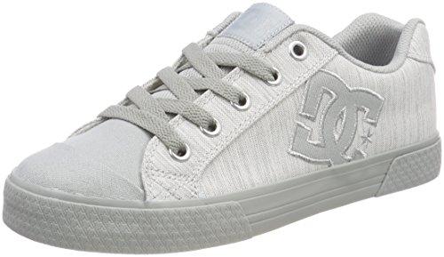 DC Shoes Chelsea, Sneaker Donna, Grigio Grey-Combo XSSS, 36 EU