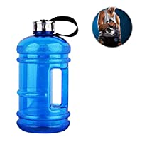 Gallon Water Bottles Gym,Womdee Outdoor Large Capacity 2.2L Water Bottle,Water Jug Container BPA Free Plastic Large Drinks Bottles for Camping Training Bicycle Hiking Gym Yoga Athletic Outdoor Travel