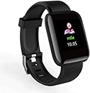 D13 Smart Bracelet Watch With Heart Rate Blood Pressure Pedometer Measurement & Call/SMS Reminder (Bl