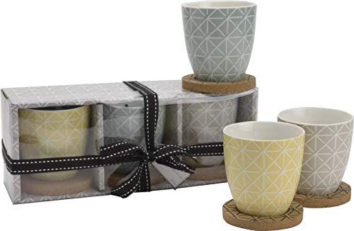 Mug - Coffret 3 Mugs et sous-tasses Nora