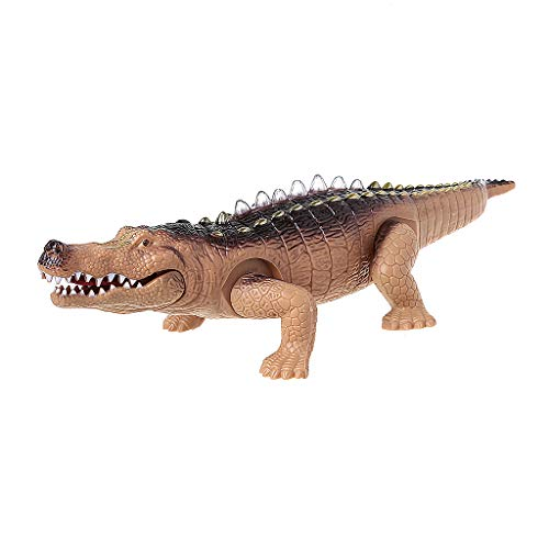 JAGETRADE Electric Crocodile Toy Simulation Crawling Alligator with Light Effects Fun Toy