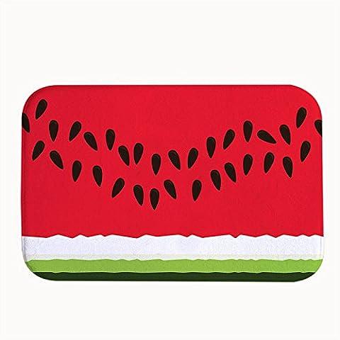 Whiangfsoo Pastèque Dessin animé Rouge Maison Intérieur Paillasson Tapis Entrée, #01, 20