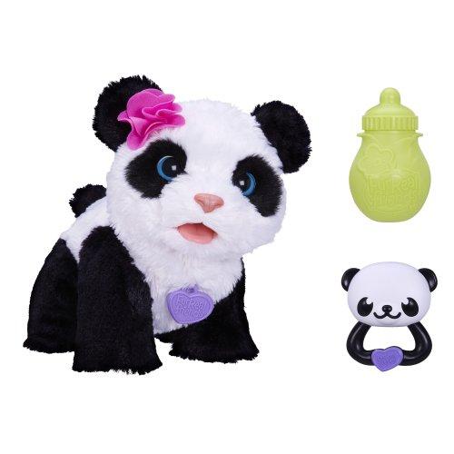 Fur Real Friends FurReal Friends Soft Toy - Pom Pom - My Baby Panda - Pet Me - Feed Me - Electronic Walking Plush