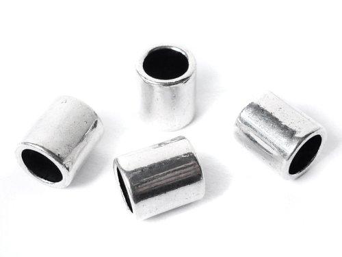 "Metallperlen Spacer ""Röhre"" für Lederband 6 mm - 5 Stück"