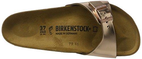Birkenstock Madrid Leder, Ciabatte Donna Braun (Metallic Copper)