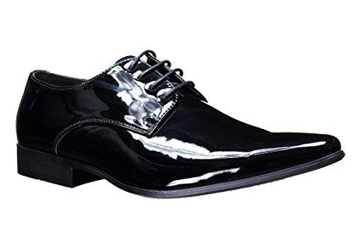 Galax - Chaussure Derbie Gh2019 V Black Patent Noir