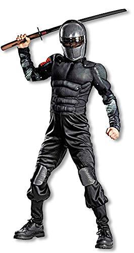 Kostüm Joe Gi Kinder - Horror-Shop GI Joe Ninja Snake Eyes Kinderkostüm L