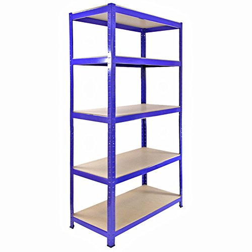 For Sale Monster Racking Heavy Duty Garage Storage Shelves (x3) & Workbench Blue 90cm x 182.5cm x 45cm Online
