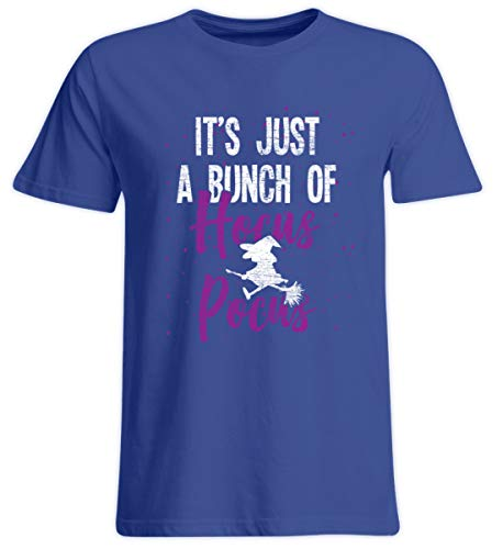 Shirtee Es ist nur Hocus Pocus - Hexe - Hexen Halloween Kostüm - Übergrößenshirt -3XL-Royalblau