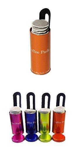 Metallic Box passend für Senseo und weitern Kaffeepadsmarken 4 Farben sortiert mit Padlifter