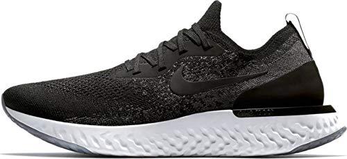 Nike Herren Epic React Flyknit Laufschuhe, Schwarz/Weiß, 44 EU (Männer Weiß Nike Laufschuhe)