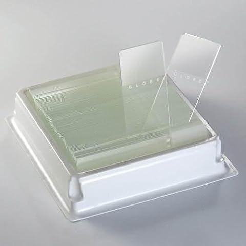 Globe Scientific 1380–50N Diamant Glas weiß Mikroskop Slide, 25x 75mm Größe, Kanten geschliffen, matt, Orange, (1440Stück)