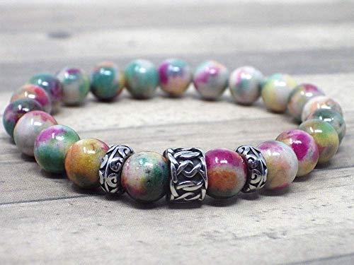 �n Armband mit Interlaced Mustern und Jade Perlen ()
