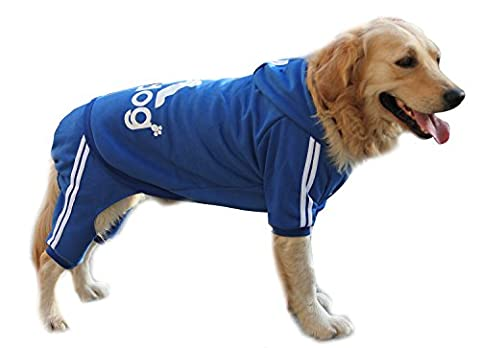 Scheppend Adidog Grand Chien Hoodies Sweat-shirt Chien de compagnie Manteau d'hiver Sport Vêtements