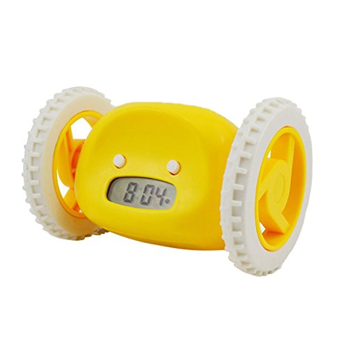 Sportwagen Form Digital LCD Laufenden Snooze Wecker Kreative Uhr Weihnachten Geschenk - Gelb