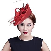 GEMVIE Mujer Tocado de Pelo Adorno de Hair Headband Rojo