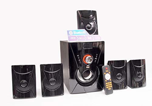 """QYNTUS 5.1 Channel Home Theater Multimedia Speaker System with Bluetooth and 4"""" Subwoofer. Best Speakers for Laptop with Remote Control (30W 