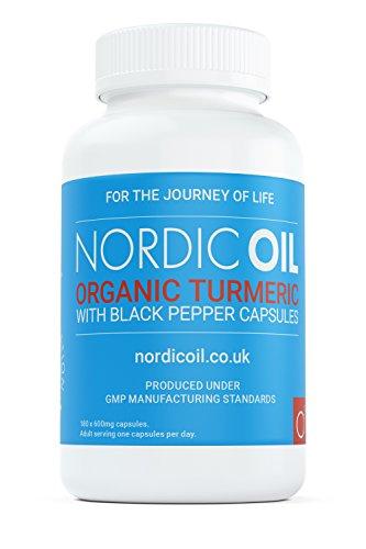 Doppelte Stärke 180 Kapseln (Bio Kurkuma Kapseln 600 mg | Turmeric & Curcumin & schwarzem Bio-Pfeffer | 180 Veggie-Kapseln (für Vegetarier geeignet) | Bio-Zertifikation & Made in UK)