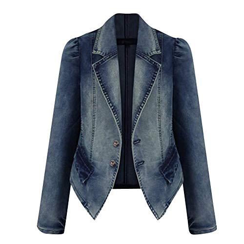 Betrothales donna blazer bavero giacche jeans jeans transizione cappotto elegante tailleur maniche lunghe giorno vintage taglie forti jeans giacca cappotto outerwear distressed cerimonia moda tempo li