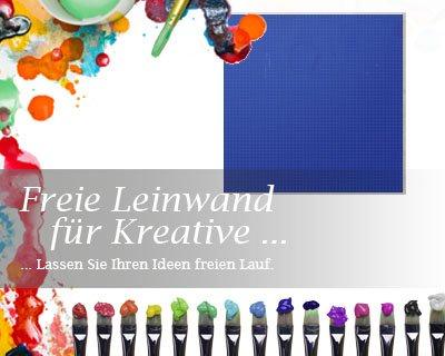 Bilderdepot24 Leinwand in blau, bemalbare Premiumqualität, aufgespannt auf Galerie Keilrahmen - Echtholz - Quadrat-Format - 3er SET je 40x40 cm - 310g/m² - fertig gerahmt, 7 Farben verfügbar