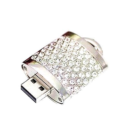 16GB USB-Flash-Laufwerk Bling Strass Datenspeicherung U Disk-Diamant-Kristall Glitter Memory Stick mit Kette