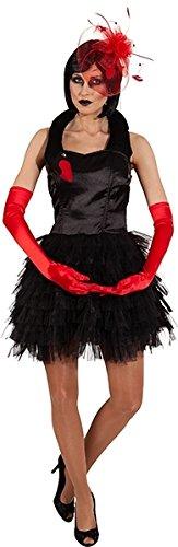Schwäne Kostüm Schwarze - Orlob Damen Kostüm schwarzer Schwan zu Karneval Fasching Gr.42/44