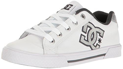 DC Shoes CHELSEA SE WOMENS SHOE D0302252, Sneaker, Donna White/Grey/Grey