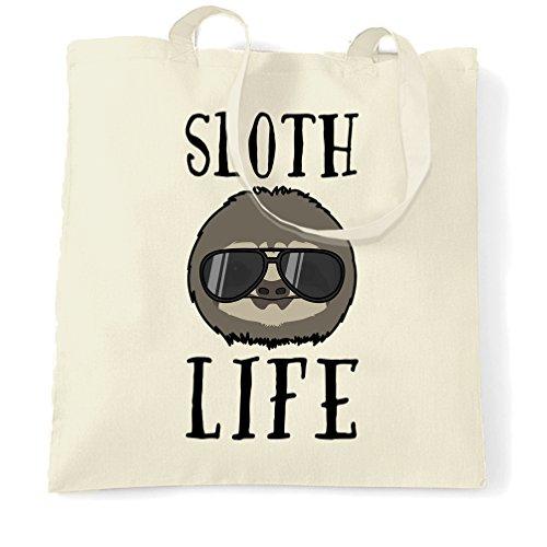 Novità Sacchetto Di Tote Sloth Thug Life animale pigro divertente Slogan Occhiali da sole freddo sveglio Natural