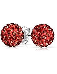 1712ba3b1813 Bling Jewelry Shamballa Inspirado Cristal Pendientes de plata