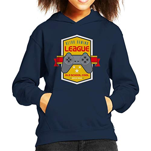 Retro Gaming League Playstation Kid's Hooded Sweatshirt - Retro-gaming-pullover